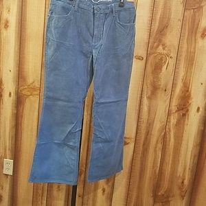 Modcloth Wrangler Flared Blue Corduroy Pants